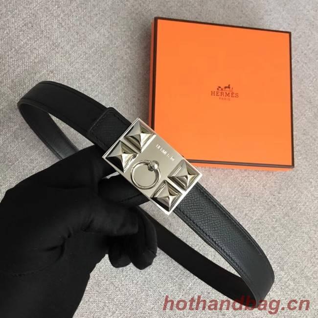 Hermes Collier de Chien belt buckle & Reversible leather strap 24 mm H0521 black