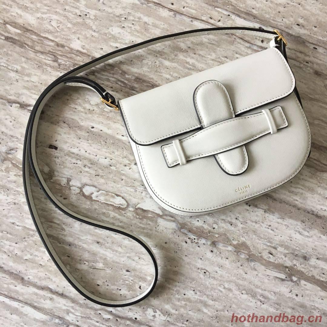 Celine Original Leather mini Shoulder Bag 3694 WHITE