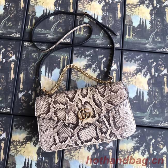 Gucci Medium double Snake skin shoulder bag 524822 grey