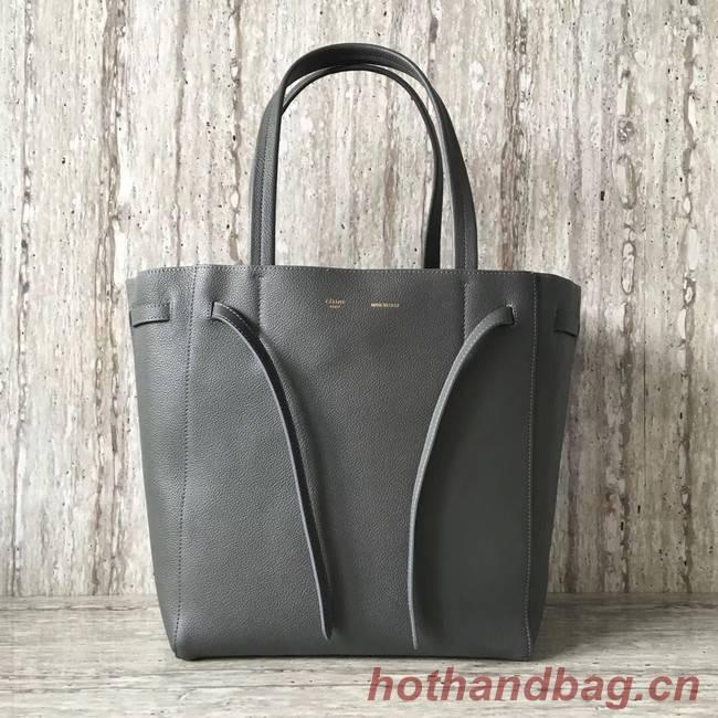 CELINE SMALL CABAS PHANTOM IN SOFT GRAINED CALFSKIN 17602 dark grey