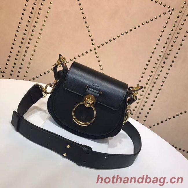 CHLOE Tess Small leather shoulder bag 3E153 black