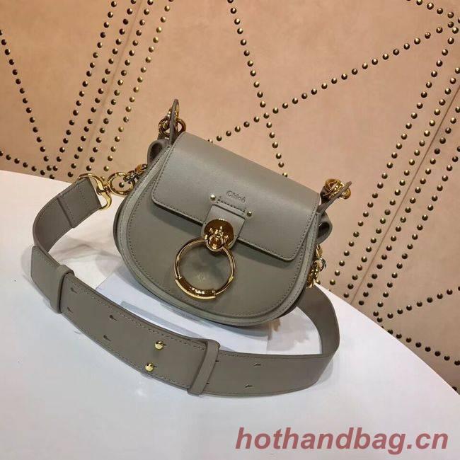 CHLOE Tess Small leather shoulder bag 3E153 grey
