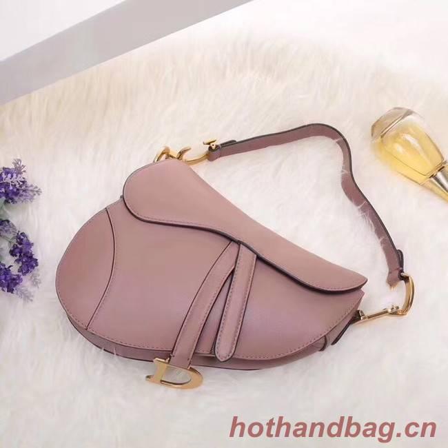Dior MINI SADDLE BAG IN PINK CALFSKIN M0447 pink