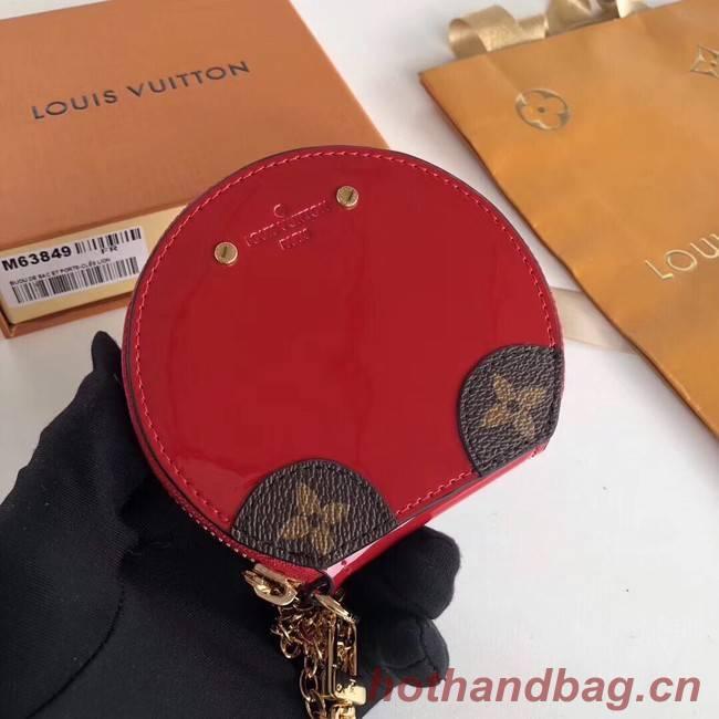 Louis Vuitton Monogram Vernis original MICRO BOITE CHAPEAU MM63484 red
