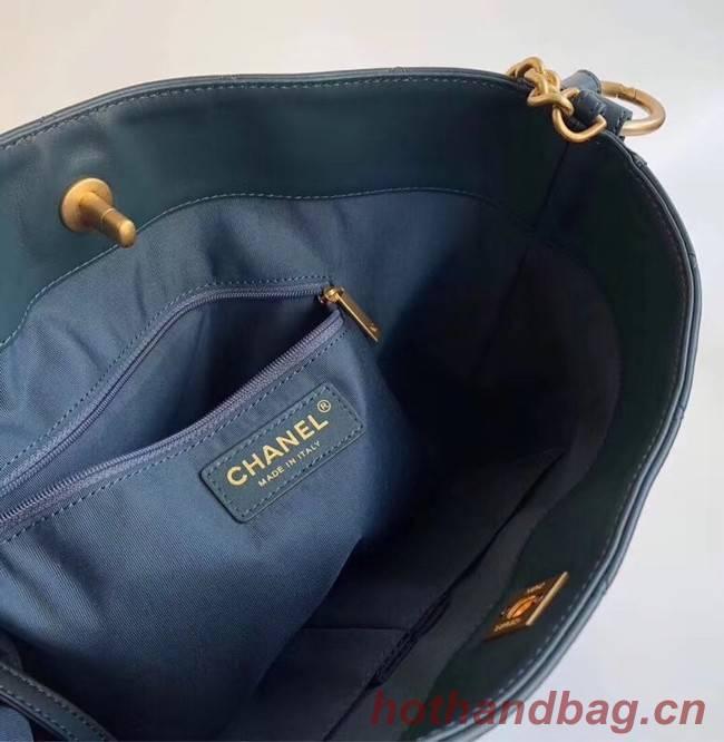 a881ec7e2cb Chanel Hobo Handbag Calfskin Grosgrain   Gold Tone Metal A57576 blue ...