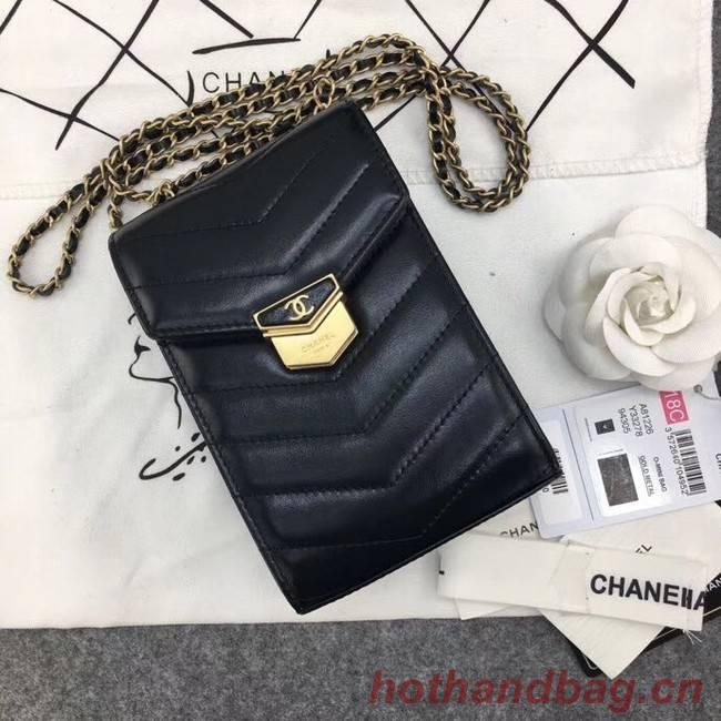 Chanel Original Clutch with Chain A81226 Calfskin & Gold-Tone Metal A81226 Black