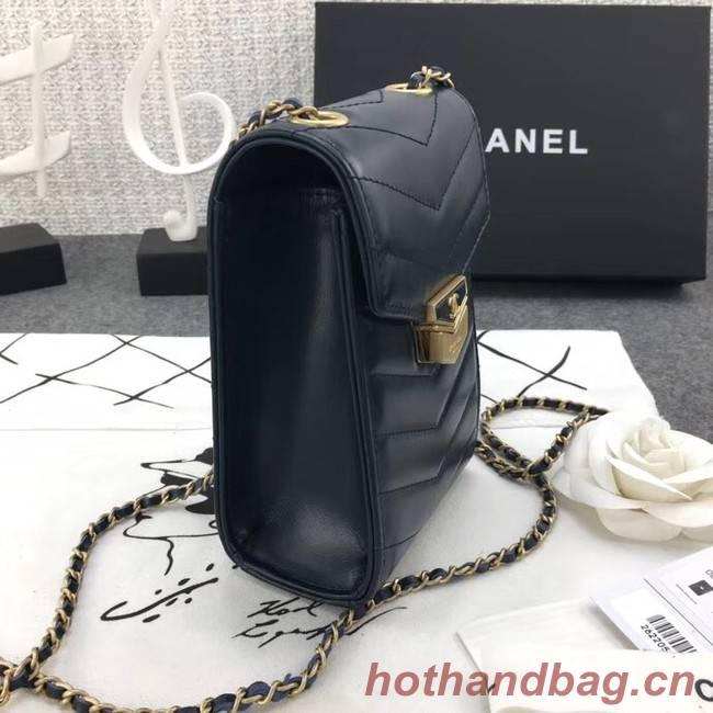 Chanel Original Clutch with Chain A81226 Calfskin & Gold-Tone Metal A81226 dark blue
