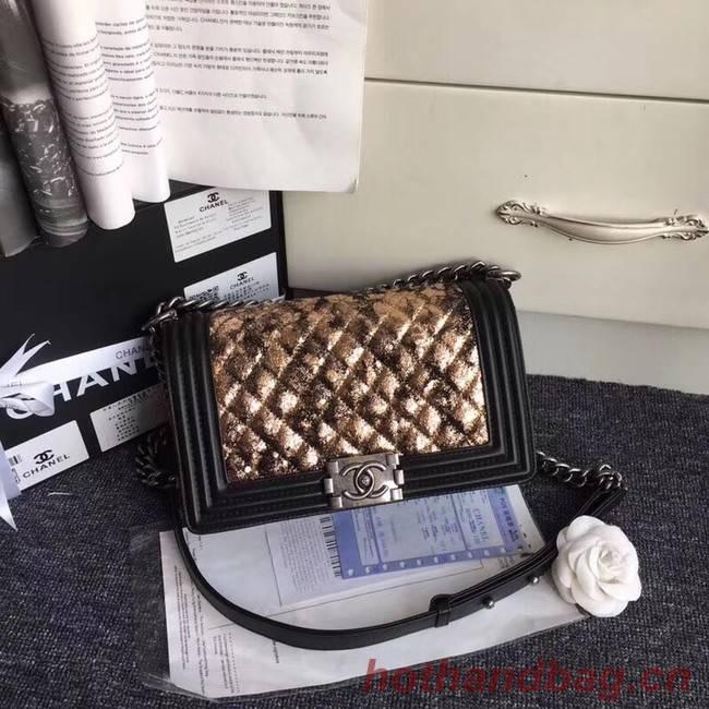 CHANEL Handbag Small BOY Original A67086 silver-Tone Metal