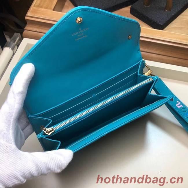 LOUIS VUITTON NEW WAVE LONG WALLET M63298 blue
