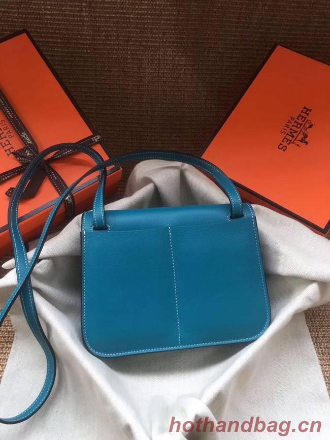 Hermes Original Halzan mini bag H069523 bleu zanzibar