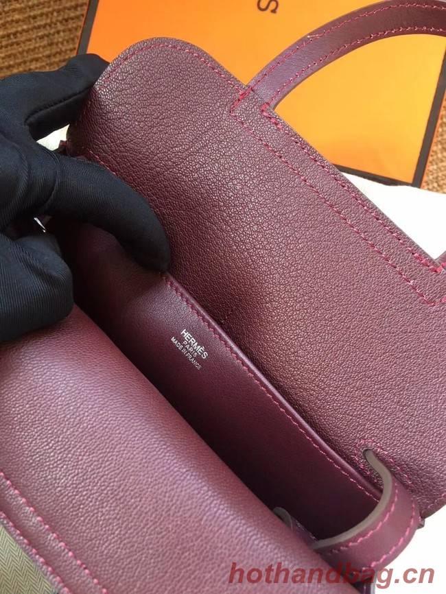 Hermes Original Halzan mini bag H069523 bordeaux