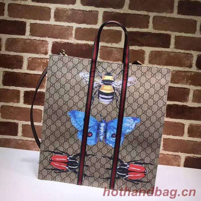 Gucci print soft GG Supreme tote 493610 Butterfly
