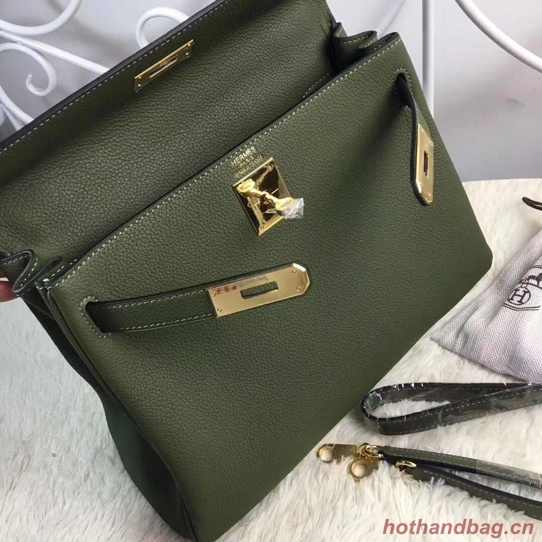 Hermes Birkin Tote Bag Original Togo Leather BK35 Deark Green
