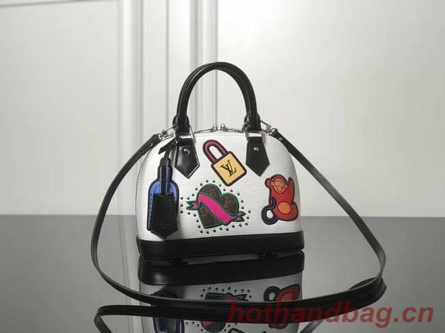 Louis Vuitton original Epi Leather ALMA BB M52481 White