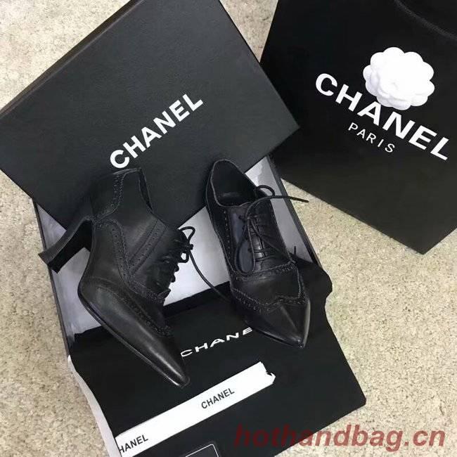 Chanel Lace-Ups Grosgrain CH2445LS black