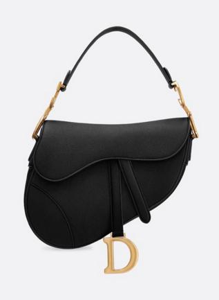 Dior SADDLE-TAS VAN KALFSLEER M0446CW black