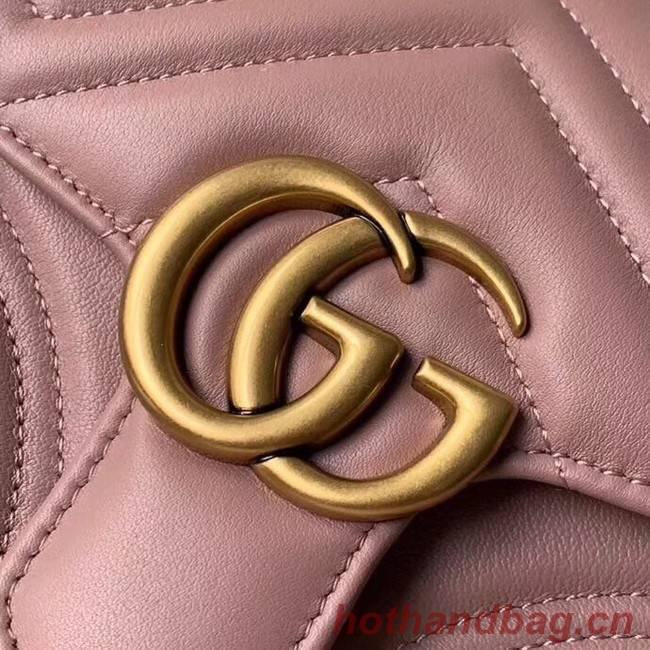 1ddc967b185 Gucci GG Marmont mini top handle bag 547260 pink  547260-pv20181029 ...