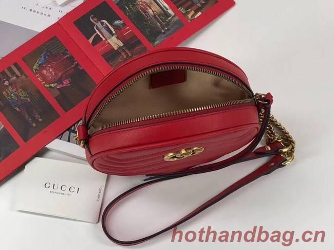 3041deb2d5ac4d Gucci GG Marmont mini round shoulder bag 550154 red [550154 ...