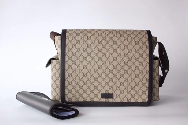Gucci GG Supreme diaper bag 495909 brown