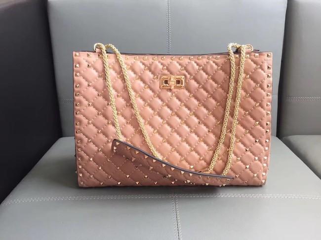 Valentino Starry Series Shopping Bag Original Sheepskin Leather 0346 pink
