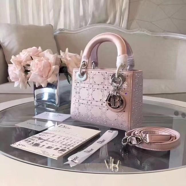 MINI LADY DIOR-TAS VAN SATIJN M0500PRTC pink