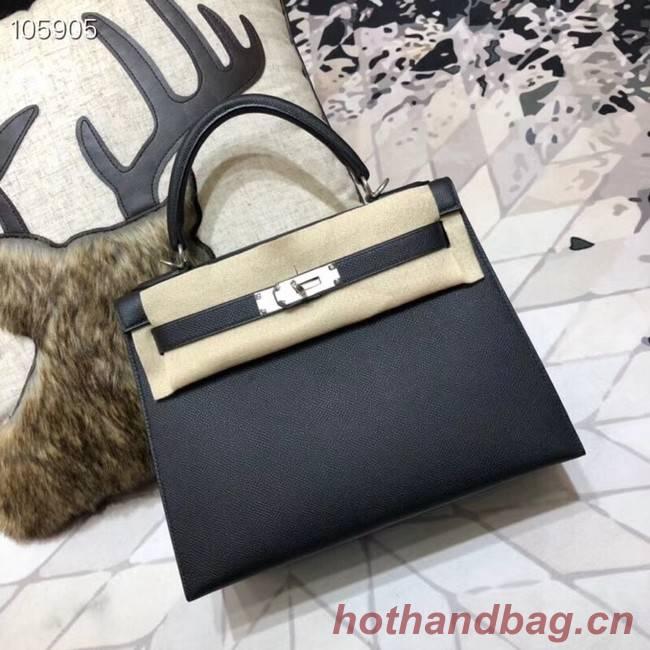 Hermes original Kelly Epsom Leather KL32 black