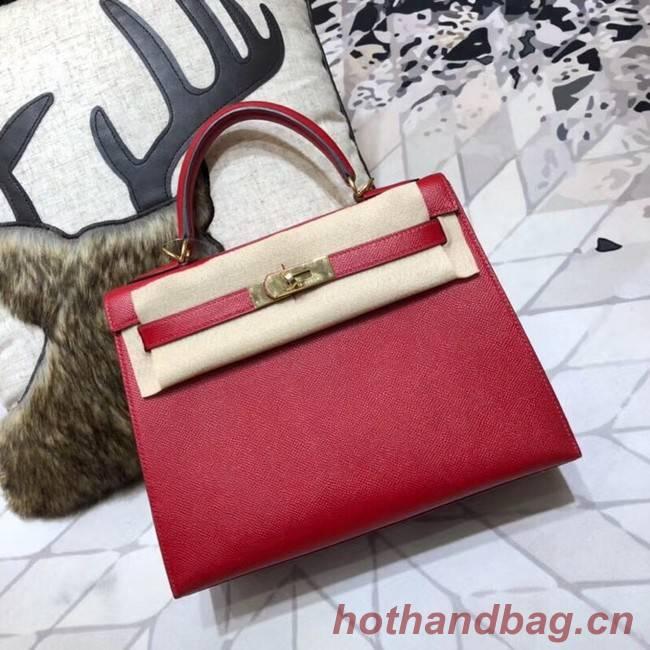 Hermes original Kelly Epsom Leather KL32 red