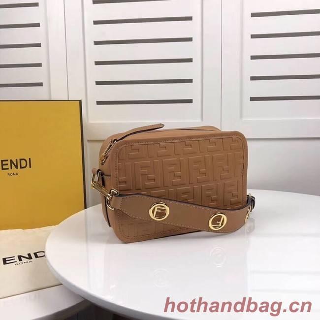Fendi MINI CAMERA CASE leather bag 8BS019A apricot
