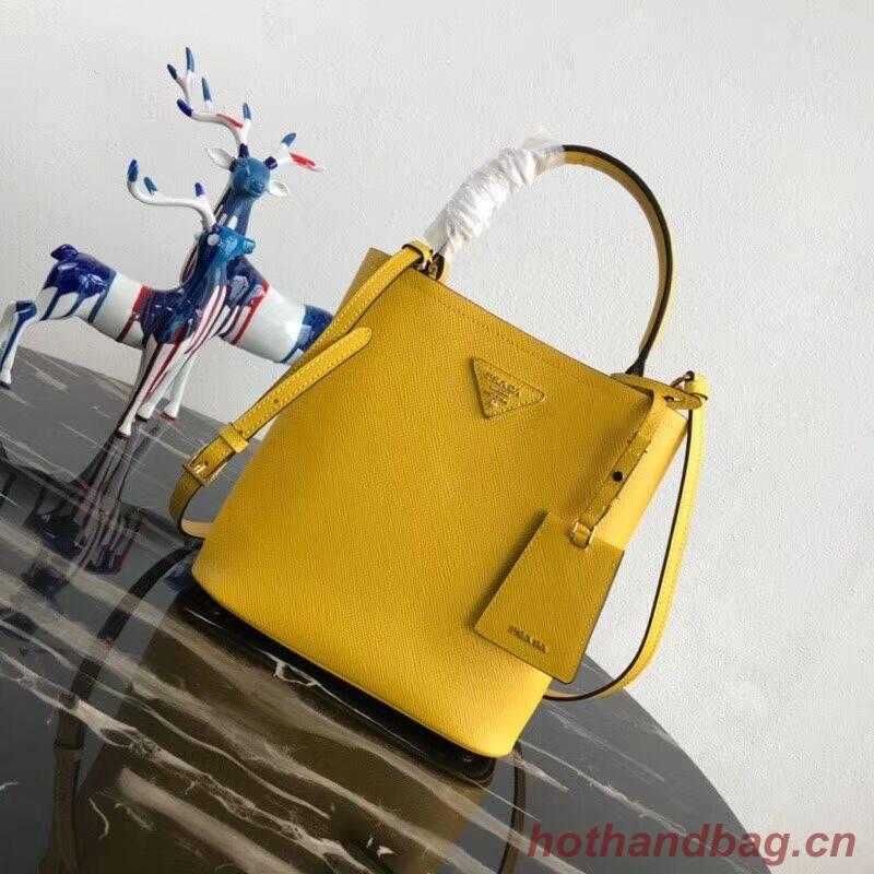 Prada Double Saffiano leather bag 1BA212 lemon