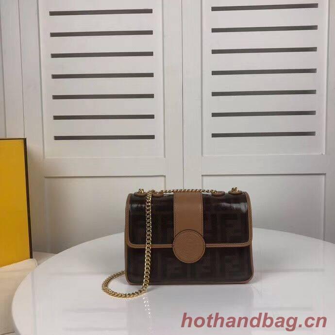 Fendi WALLET ON CHAIN 8HF836 brown