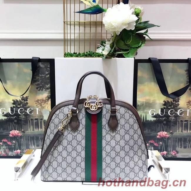 Gucci Ophidia GG medium top handle bag 524533 brown