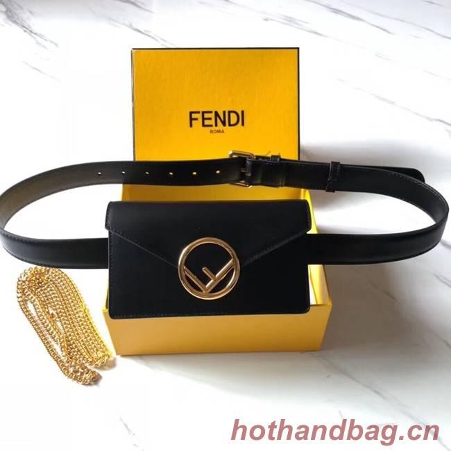 Fendi BELT BAG leather belt bag 8BM005 black