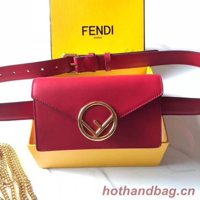 Fendi BELT BAG leather belt bag 8BM005 red