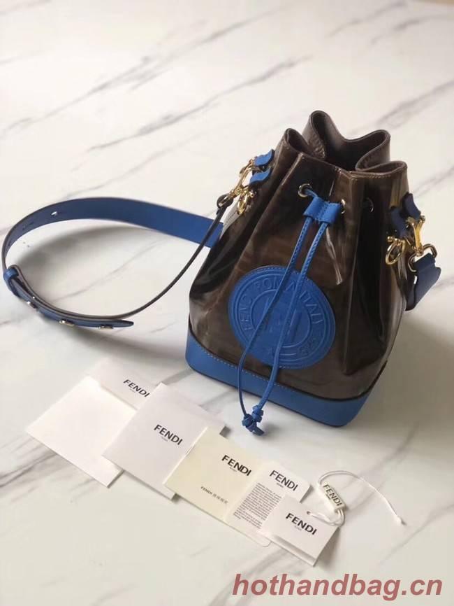 Fendi MON TRESOR Multicolor fabric bag 8BT298 blue