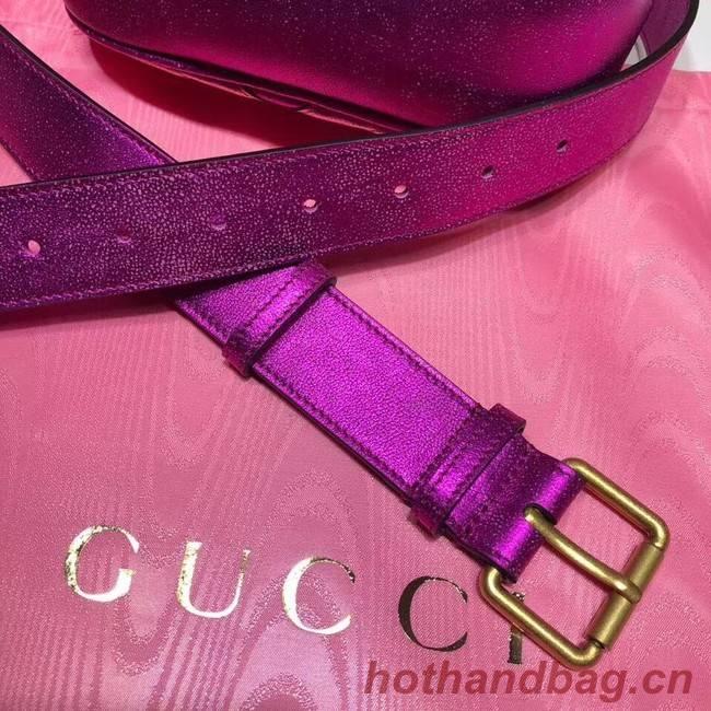 Gucci GG Marmont matelasse leather belt bag 476434 Fuchsia ...