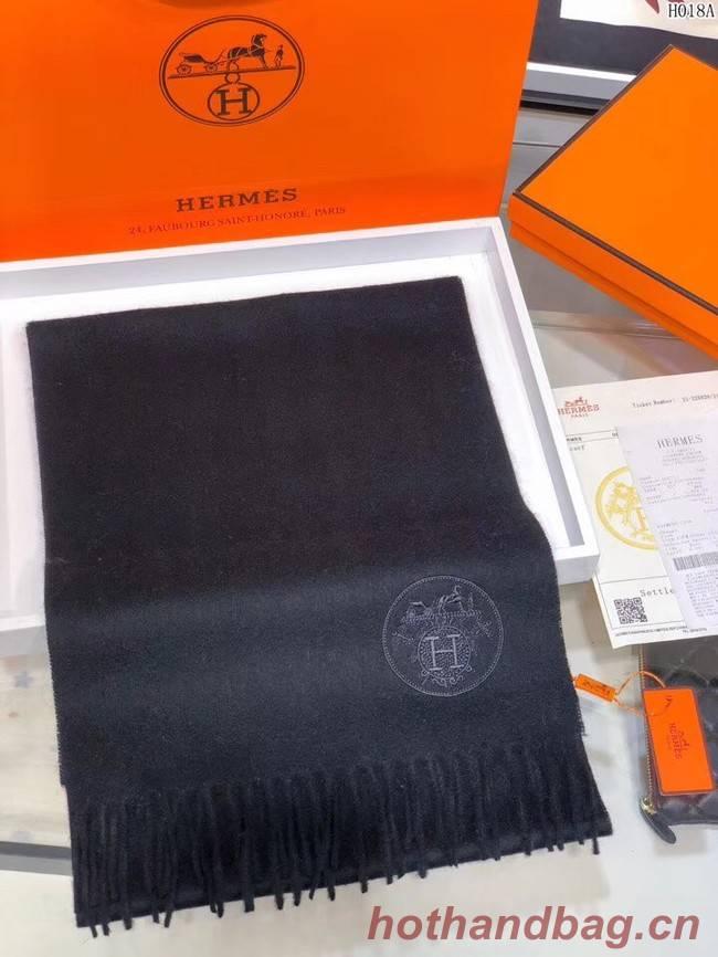 Hermes Cashmere scarf H2599 black