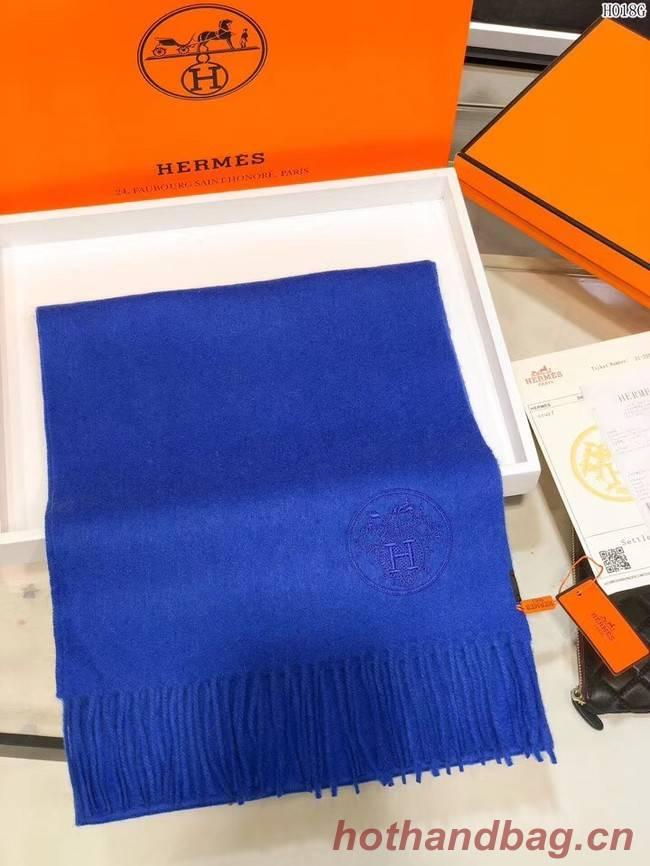Hermes Cashmere scarf H2599 blue