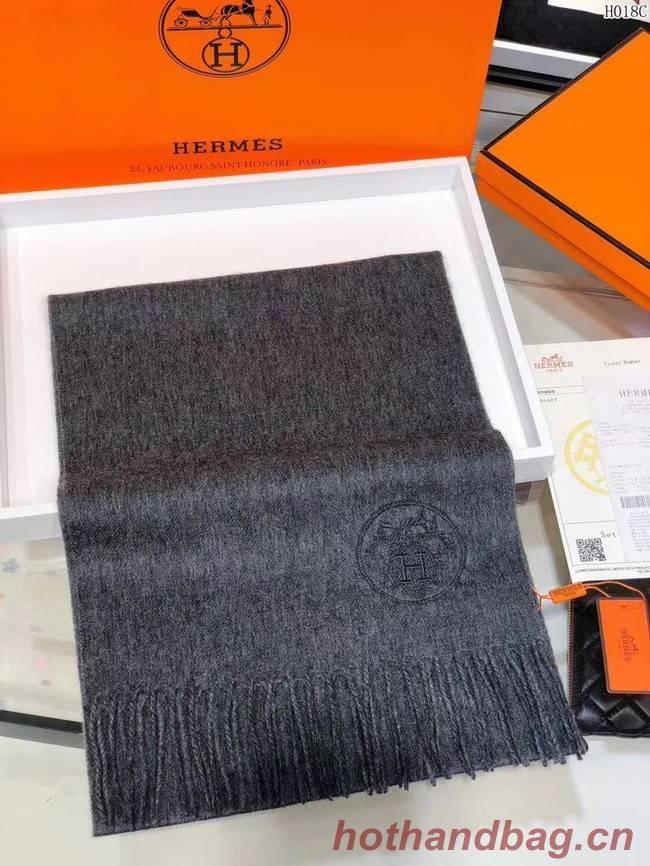 Hermes Cashmere scarf H2599 dark grey