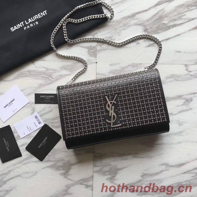 SAINT LAURENT Kate Monogram leather shoulder bag Y550245 black