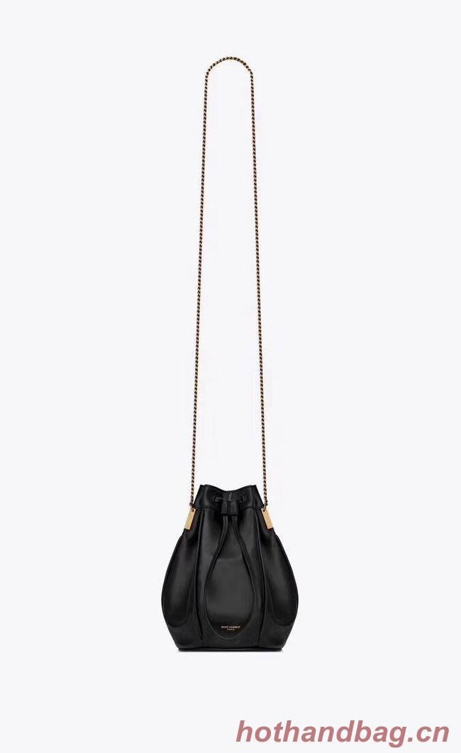 SAINT LAURENT Teddy leather bucket bag Y550168 black