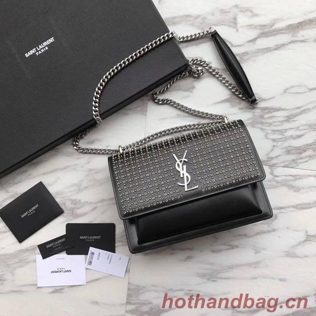 SAINT LAURENT leather shoulder bag Y550228 black