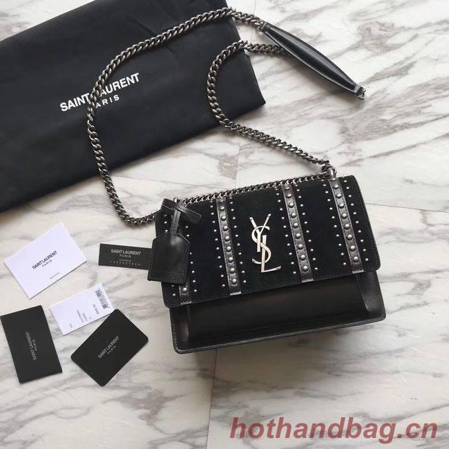 SAINT LAURENT leather shoulder bag Y550286 black