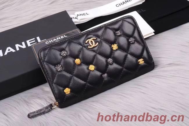 Chanel Lambskin & Gold-Tone Metal A81611 black