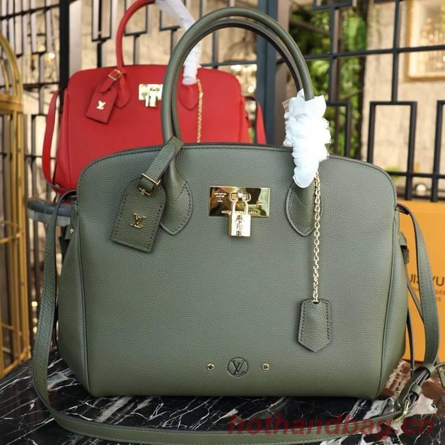 e18ed3144194 Louis Vuitton Veau Nuage Leather Milla MM M51685 green  M51685 ...