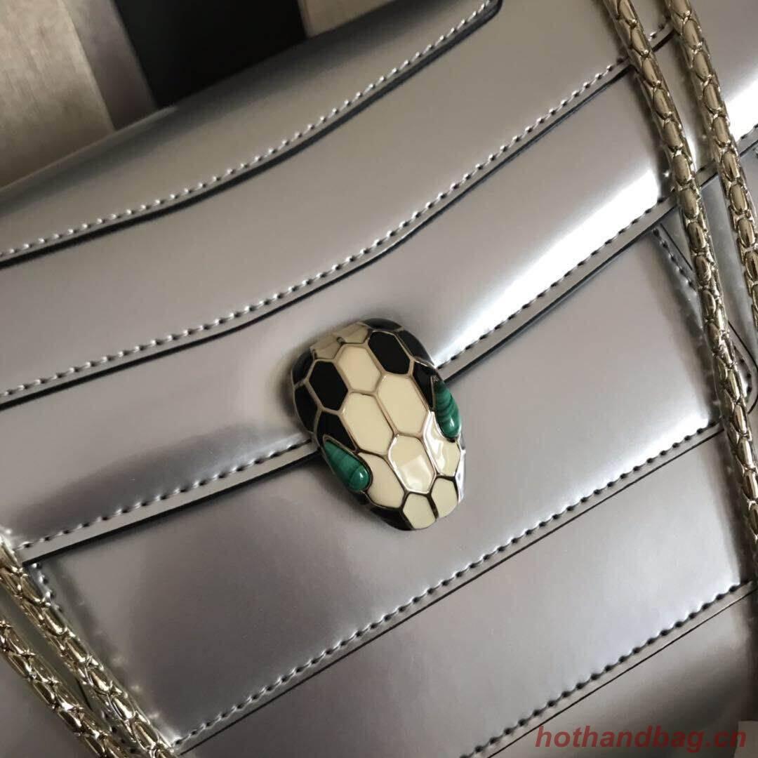 Bulgari metallic-leather shoulder bag 15004 silver