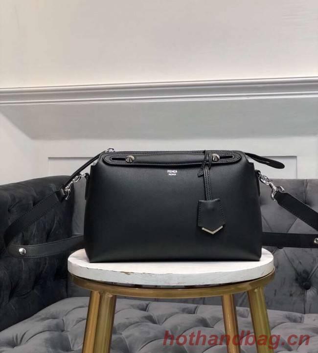FENDI BY THE WAY REGULAR Small multicoloured leather Boston bag 8BL1245 black