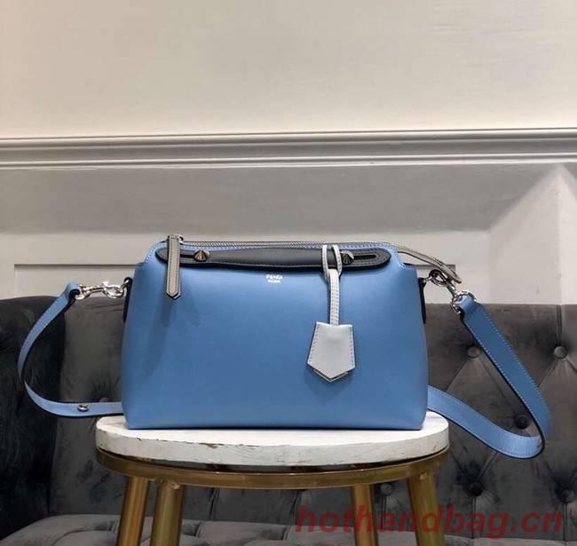 FENDI BY THE WAY REGULAR Small multicoloured leather Boston bag 8BL1245 blue&grey