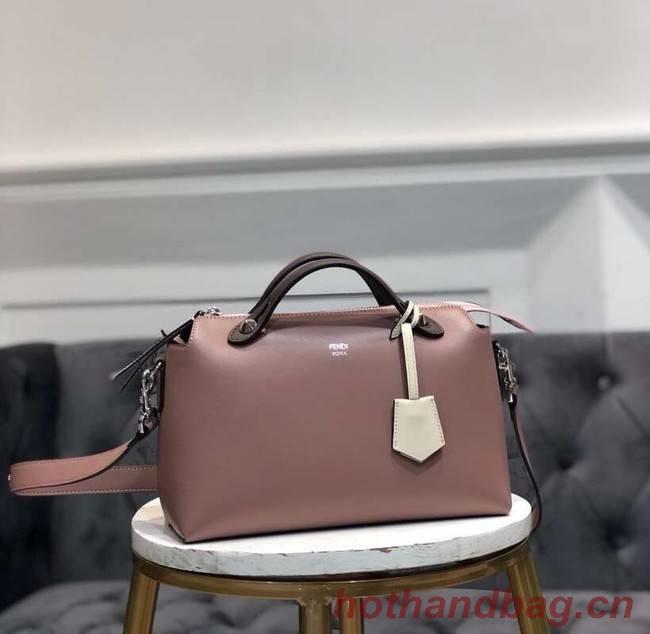 FENDI BY THE WAY REGULAR Small multicoloured leather Boston bag 8BL1245 dark pink