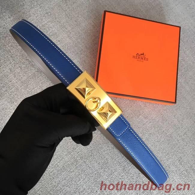 Hermes Collier de Chien belt buckle & Reversible leather strap 24 mm H0521 blue