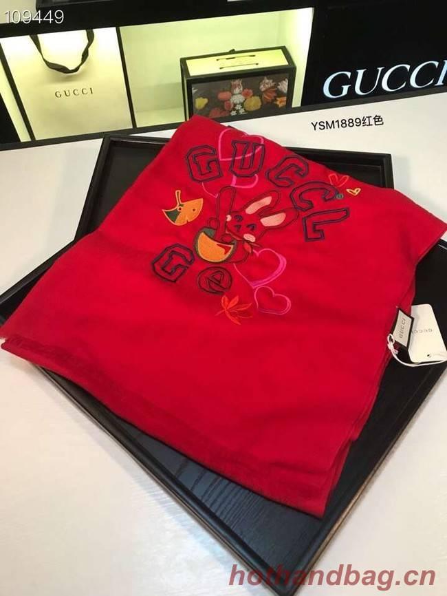 Gucci Cashmere Scarf YSM1889 red